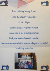 Sewing group poster