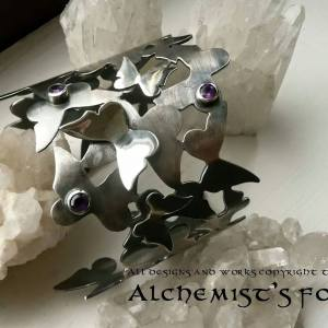 Butterfly Cuff with Amethyst
