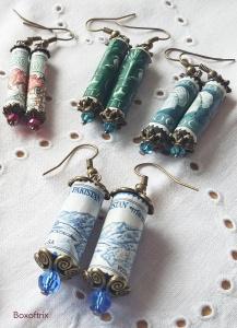 Vintage postage stamp earrings copy