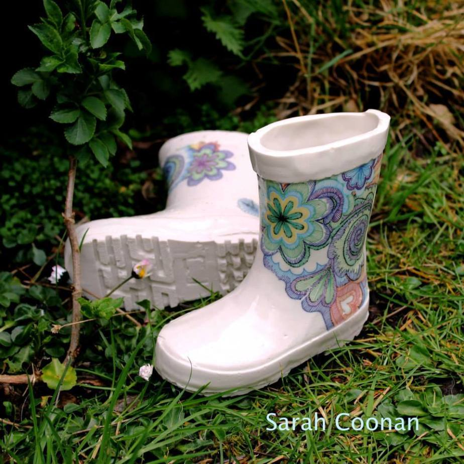 porcelain wellies