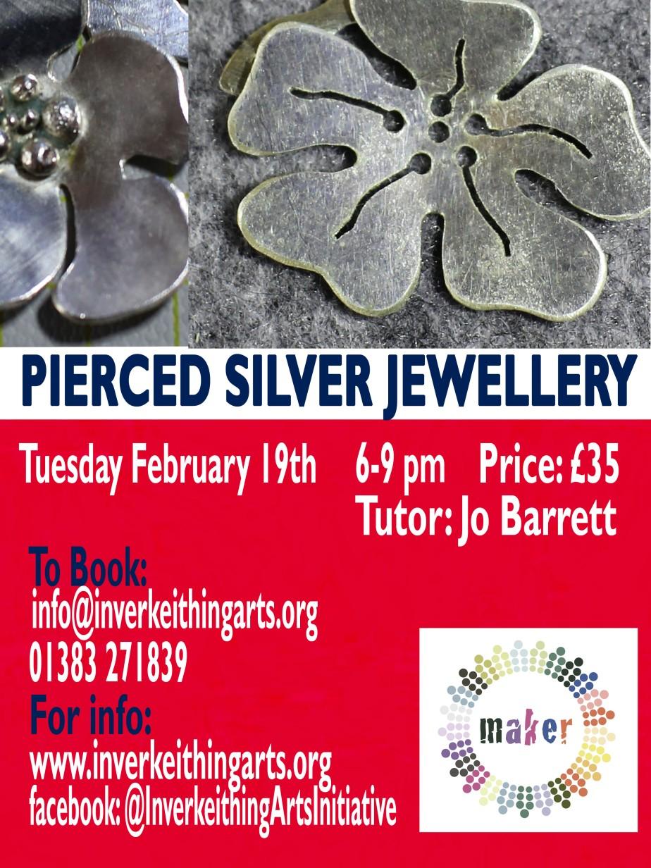 pierced silver flat