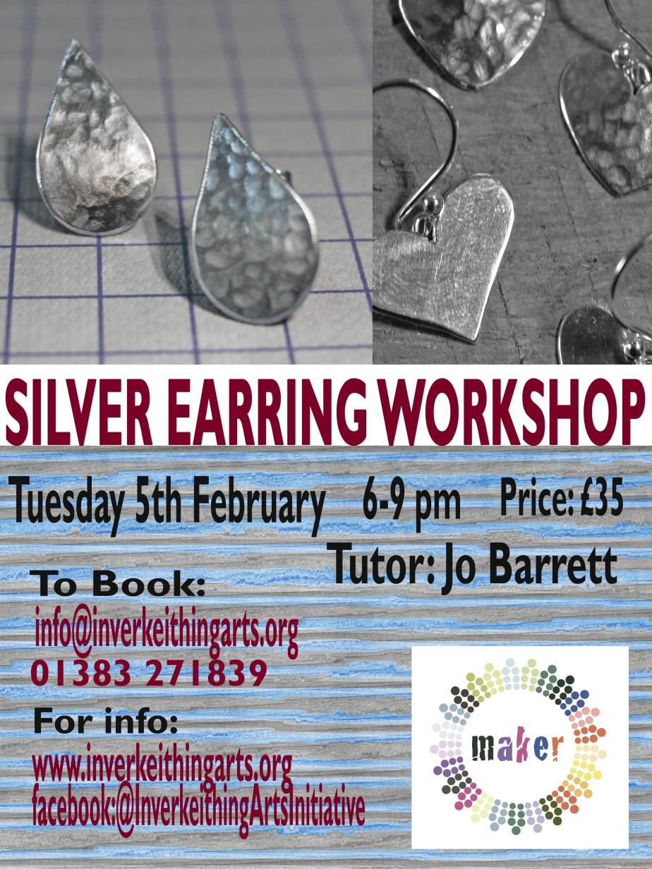silver earring flat