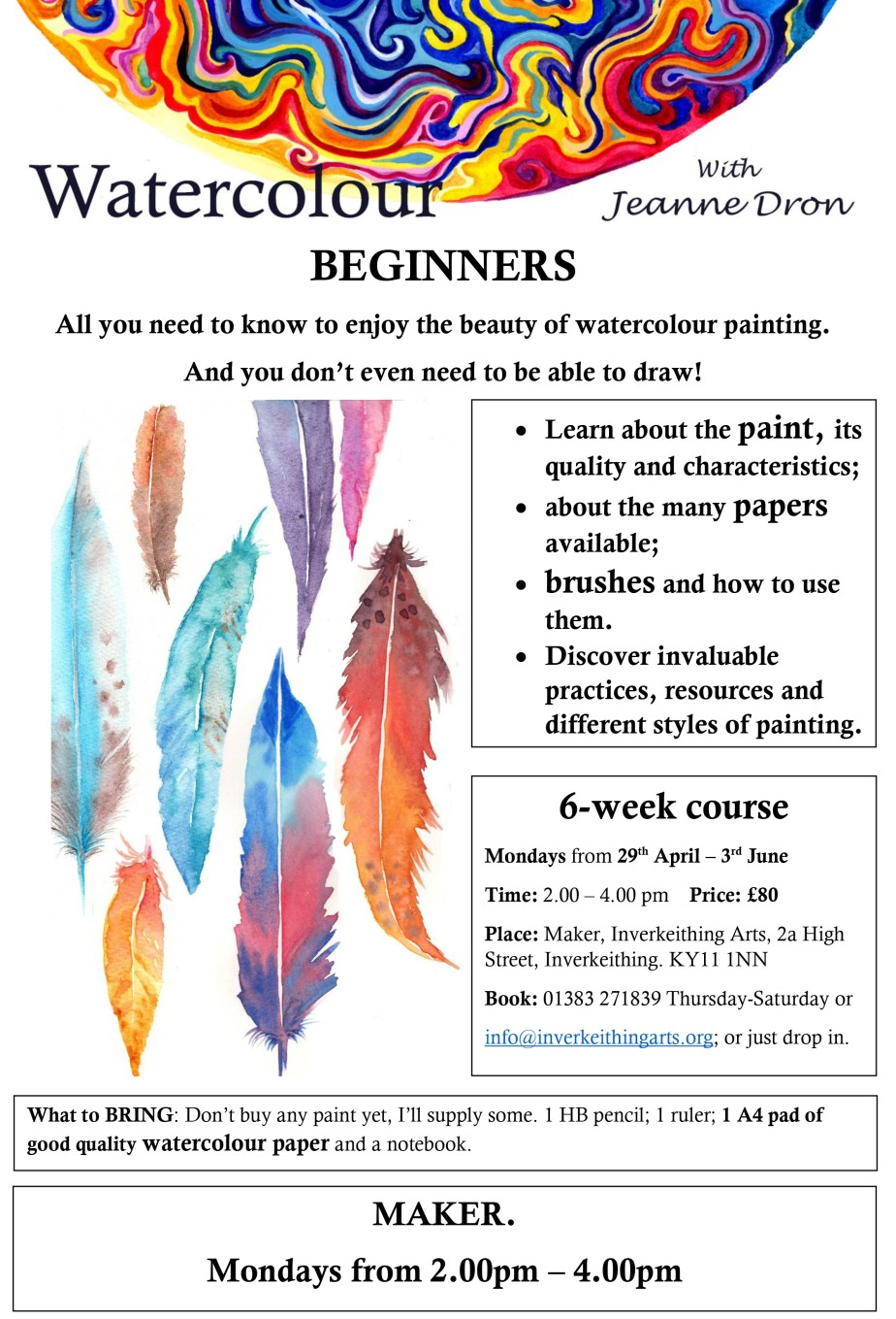 Beginners poster 2 April 2019